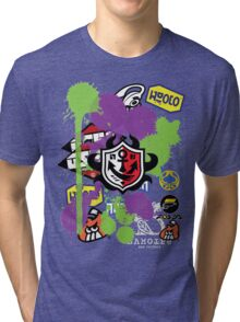 Splatoon Inspired: Ink Splat Brand Tri-blend T-Shirt
