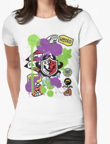 Splatoon Inspired: Ink Splat Brand Womens Fitted T-Shirt