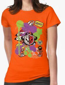 Splatoon Inspired: Ink Splat Brand Womens Fitted T-Shirt