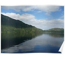 Lake Crescent Washington State Poster