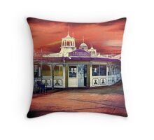 Victorian Tea Rooms Throw Pillow