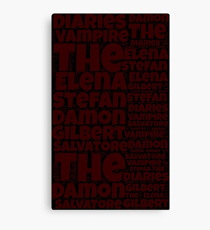 The Vampire Diaries word collage Canvas Print
