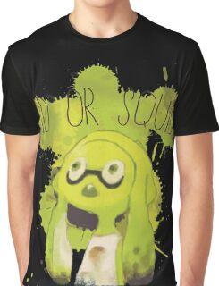 Splatoon Inspired: Squid or Kid Graphic T-Shirt