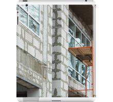 Facade of the building during the construction phase iPad Case/Skin