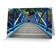 Crossing the Blue Bridge Greeting Card