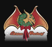 Christmas Pterodactyl Kids Tee