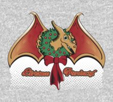 Christmas Pterodactyl One Piece - Long Sleeve