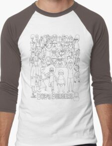 Characters of Bobs Burgers Men's Baseball ¾ T-Shirt