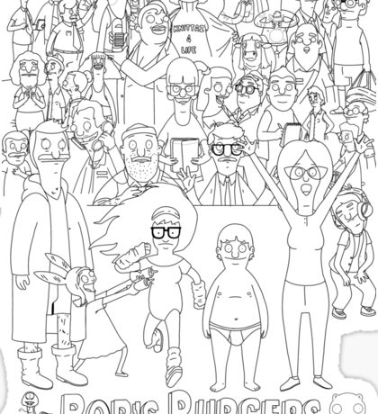 Characters of Bobs Burgers Sticker