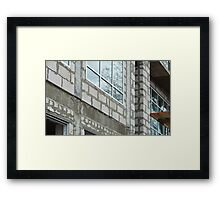 Seams rough walls are covered with cement blocks Framed Print