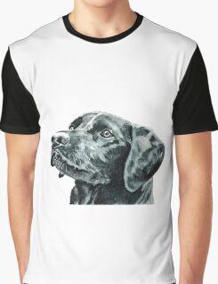 Black Labrador Dog Graphic T-Shirt