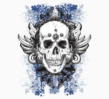 blue goth skull by red-rawlo