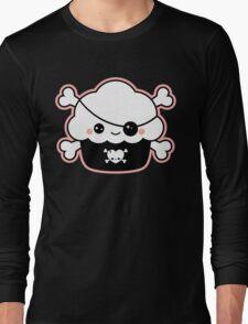 Cute Pirate Cupcake Long Sleeve T-Shirt