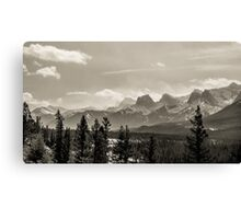 Rocky Mountains in Monochrome Canvas Print