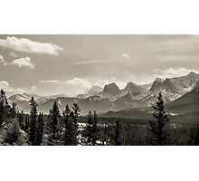 Rocky Mountains in Monochrome Photographic Print