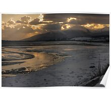 Mournes Mountains from Murlough Inner Bay Poster