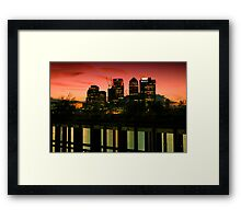 London skyline at sunset Framed Print