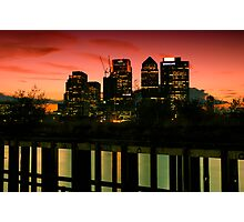 London skyline at sunset Photographic Print
