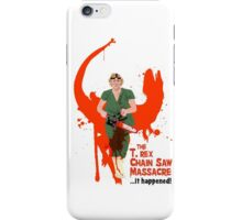 The T. rex Chainsaw Massacre iPhone Case/Skin