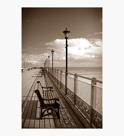 Skegness pier in sepia Photographic Print