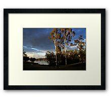 Glenlyon Dam Sunset Framed Print