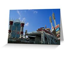 Reds Stadium Cincinnati Greeting Card