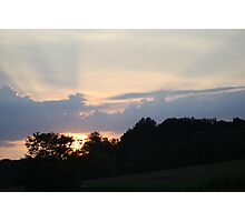 sunset dazzle Photographic Print