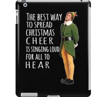 Elf, christmas cheer iPad Case/Skin