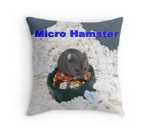 Russian Hamster Tinier Than the Food Bowl Throw Pillow