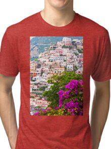 Positano Purple Tri-blend T-Shirt
