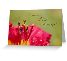 All Things New Greeting Card