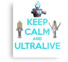 Keep Calm and Ultralive Ultraman Ginga Metal Print