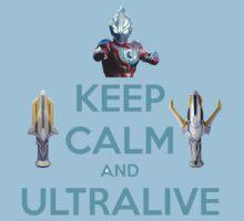 Keep Calm and Ultralive Ultraman Ginga Baby Tee