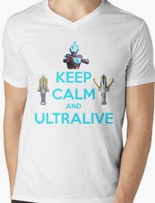 Keep Calm and Ultralive Ultraman Ginga Mens V-Neck T-Shirt