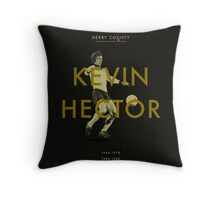 Derby County - Kevin Hector Throw Pillow