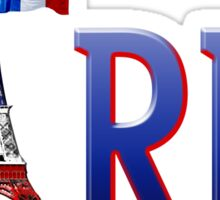 Paris - Eiffel Tower in Blue, White and Red Sticker