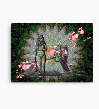 Sphinx and attendant Canvas Print