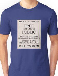 Police Telephone Unisex T-Shirt