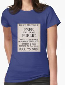 Police Telephone Womens Fitted T-Shirt