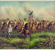 Theodore Roosevelt and the Rough Riders Charging San Juan Hill by allhistory