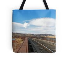 Rivets and Rails Tote Bag