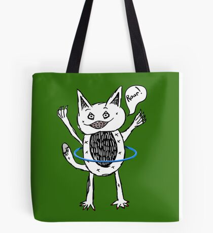 Monster Hula Hoop Tote Bag