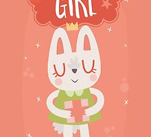 Birthday Girl Bunny by Claire Stamper