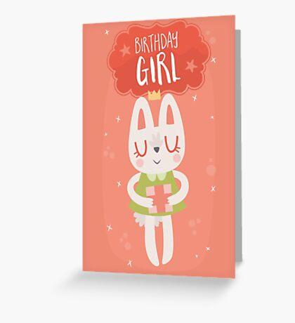 Birthday Girl Bunny Greeting Card