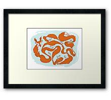 Fox Tail Maze Framed Print