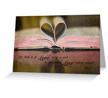 Bible Heart Greeting Card