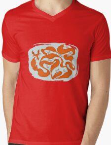Fox Tail Maze Mens V-Neck T-Shirt