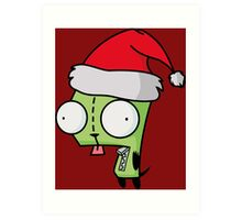 Invader Zim - Santa Gir [Red] Art Print