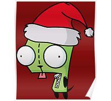 Invader Zim - Santa Gir [Red] Poster