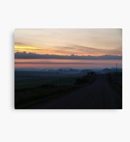 Rolling Hills to Sunrise Canvas Print